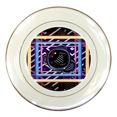 Abstract Sphere Room 3d Design Porcelain Plates