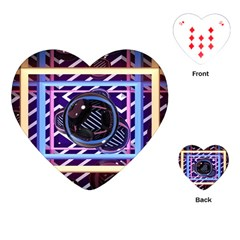 Abstract Sphere Room 3d Design Playing Cards (heart)