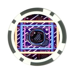 Abstract Sphere Room 3d Design Poker Chip Card Guard