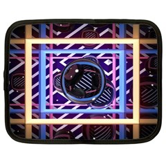 Abstract Sphere Room 3d Design Netbook Case (xl)