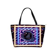 Abstract Sphere Room 3d Design Shoulder Handbags