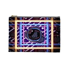 Abstract Sphere Room 3d Design Cosmetic Bag (Large)