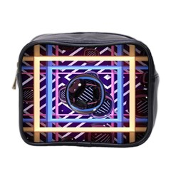 Abstract Sphere Room 3d Design Mini Toiletries Bag 2 Side