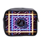 Abstract Sphere Room 3d Design Mini Toiletries Bag 2-Side Back