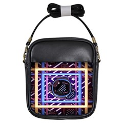 Abstract Sphere Room 3d Design Girls Sling Bags