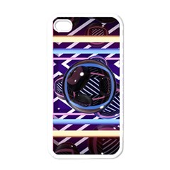 Abstract Sphere Room 3d Design Apple Iphone 4 Case (white)