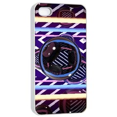Abstract Sphere Room 3d Design Apple Iphone 4/4s Seamless Case (white)