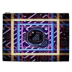 Abstract Sphere Room 3d Design Cosmetic Bag (xxl)