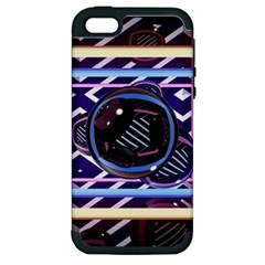 Abstract Sphere Room 3d Design Apple iPhone 5 Hardshell Case (PC+Silicone)
