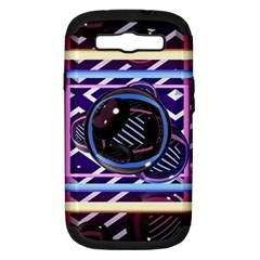 Abstract Sphere Room 3d Design Samsung Galaxy S III Hardshell Case (PC+Silicone)