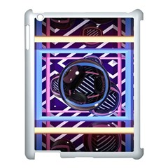 Abstract Sphere Room 3d Design Apple iPad 3/4 Case (White)