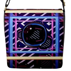 Abstract Sphere Room 3d Design Flap Messenger Bag (s)