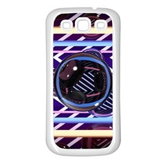 Abstract Sphere Room 3d Design Samsung Galaxy S3 Back Case (white)