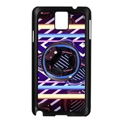 Abstract Sphere Room 3d Design Samsung Galaxy Note 3 N9005 Case (black)