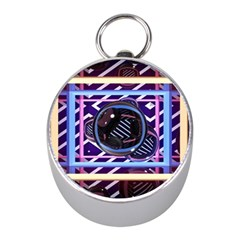 Abstract Sphere Room 3d Design Mini Silver Compasses