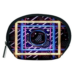 Abstract Sphere Room 3d Design Accessory Pouches (Medium)