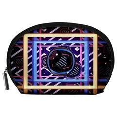 Abstract Sphere Room 3d Design Accessory Pouches (large)