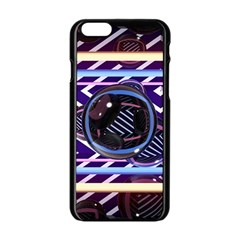 Abstract Sphere Room 3d Design Apple Iphone 6/6s Black Enamel Case