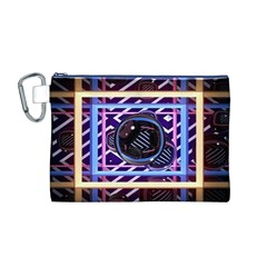 Abstract Sphere Room 3d Design Canvas Cosmetic Bag (M)