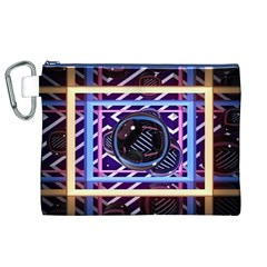 Abstract Sphere Room 3d Design Canvas Cosmetic Bag (xl)