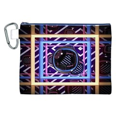 Abstract Sphere Room 3d Design Canvas Cosmetic Bag (xxl)