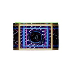 Abstract Sphere Room 3d Design Cosmetic Bag (XS)