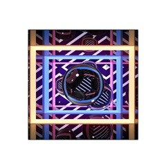 Abstract Sphere Room 3d Design Satin Bandana Scarf