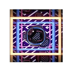 Abstract Sphere Room 3d Design Small Satin Scarf (square)