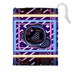 Abstract Sphere Room 3d Design Drawstring Pouches (xxl)