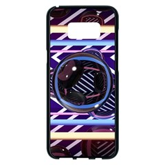 Abstract Sphere Room 3d Design Samsung Galaxy S8 Plus Black Seamless Case