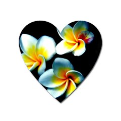 Flowers Black White Bunch Floral Heart Magnet