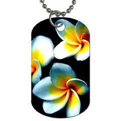 Flowers Black White Bunch Floral Dog Tag (One Side)