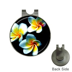 Flowers Black White Bunch Floral Hat Clips With Golf Markers