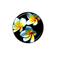 Flowers Black White Bunch Floral Hat Clip Ball Marker (10 pack)