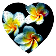 Flowers Black White Bunch Floral Jigsaw Puzzle (heart)