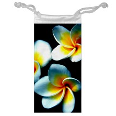 Flowers Black White Bunch Floral Jewelry Bag