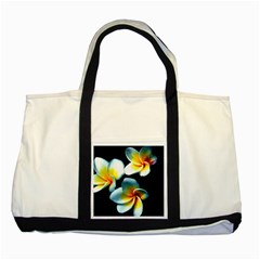 Flowers Black White Bunch Floral Two Tone Tote Bag