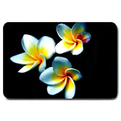 Flowers Black White Bunch Floral Large Doormat