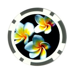 Flowers Black White Bunch Floral Poker Chip Card Guard (10 Pack)