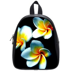 Flowers Black White Bunch Floral School Bags (Small)