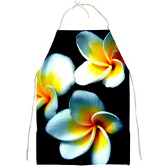 Flowers Black White Bunch Floral Full Print Aprons