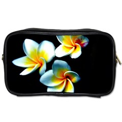 Flowers Black White Bunch Floral Toiletries Bags 2-Side