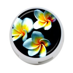 Flowers Black White Bunch Floral 4 Port Usb Hub (two Sides)