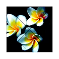 Flowers Black White Bunch Floral Acrylic Tangram Puzzle (6  X 6 )