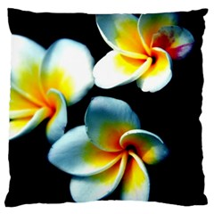 Flowers Black White Bunch Floral Large Cushion Case (one Side)
