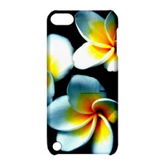 Flowers Black White Bunch Floral Apple iPod Touch 5 Hardshell Case with Stand