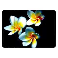 Flowers Black White Bunch Floral Samsung Galaxy Tab 8 9  P7300 Flip Case