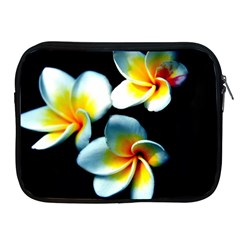 Flowers Black White Bunch Floral Apple Ipad 2/3/4 Zipper Cases
