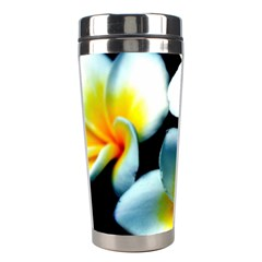 Flowers Black White Bunch Floral Stainless Steel Travel Tumblers