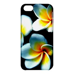 Flowers Black White Bunch Floral Apple iPhone 5C Hardshell Case